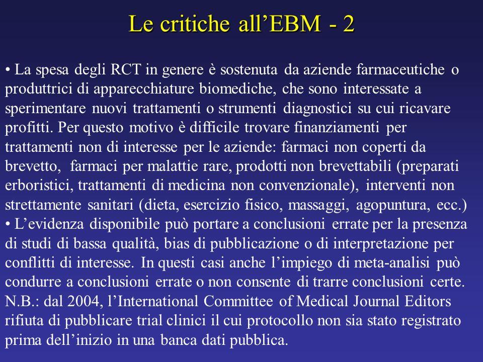 Le critiche all'EBM - 2