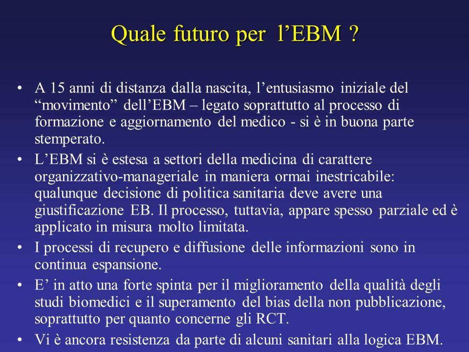 Quale futuro per l'EBM
