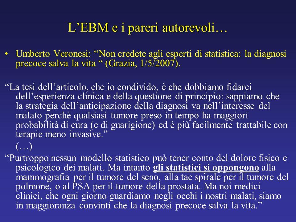 L'EBM e i pareri autorevoli…