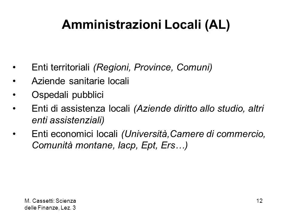 Amministrazioni Locali (AL)