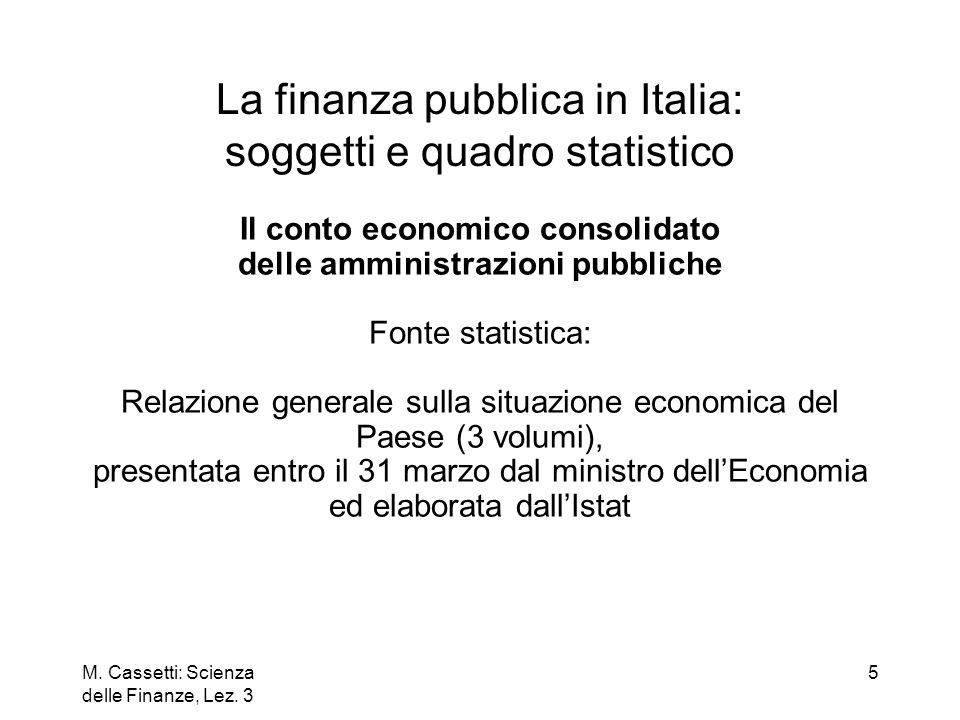 La finanza pubblica in Italia: soggetti e quadro statistico