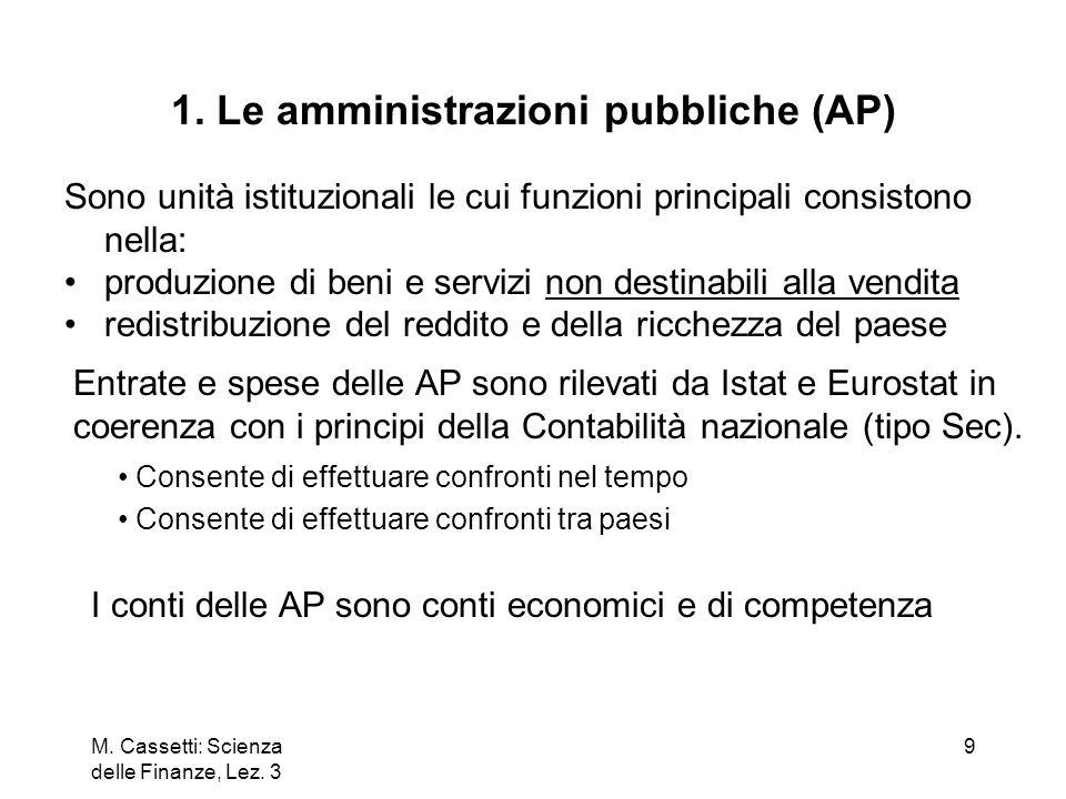 1. Le amministrazioni pubbliche (AP)