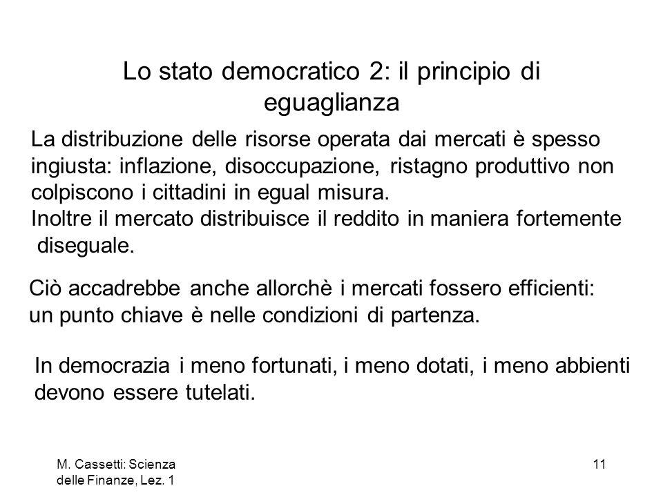 Lo stato democratico 2: il principio di eguaglianza