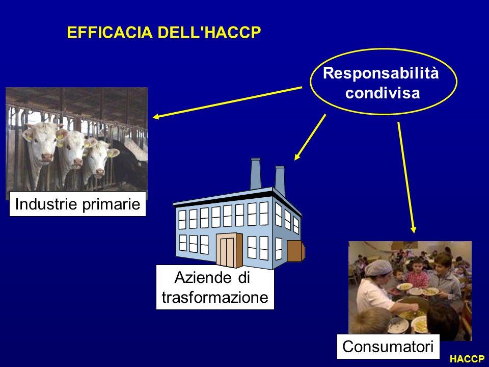 EFFICACIA DELL HACCP Responsabilità condivisa