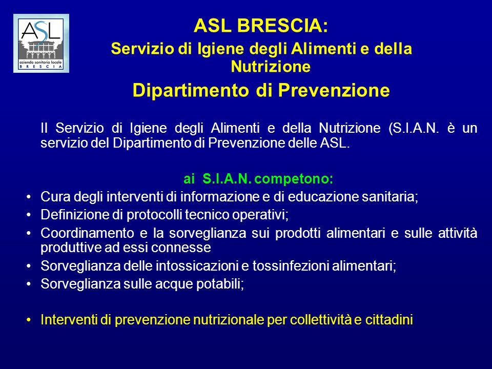 ASL BRESCIA: Dipartimento di Prevenzione
