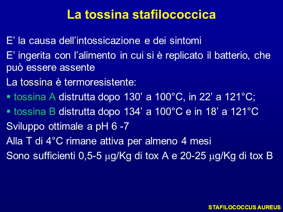 La tossina stafilococcica