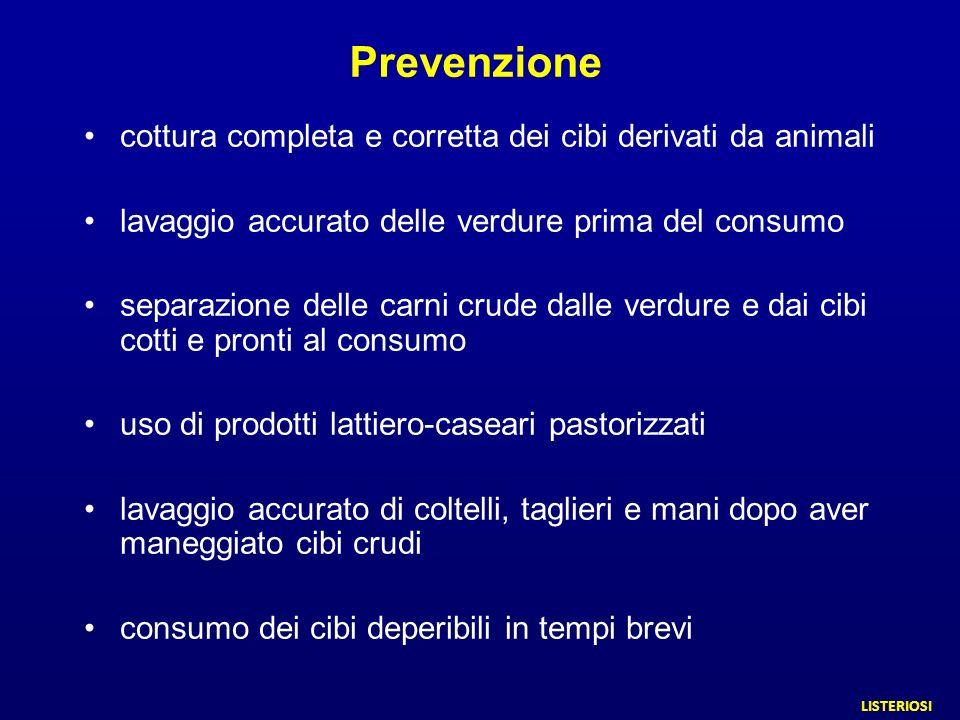Prevenzione cottura completa e corretta dei cibi derivati da animali