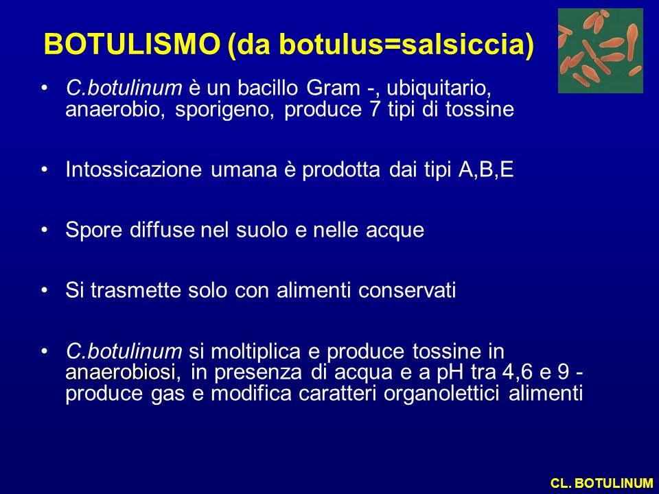 BOTULISMO (da botulus=salsiccia)