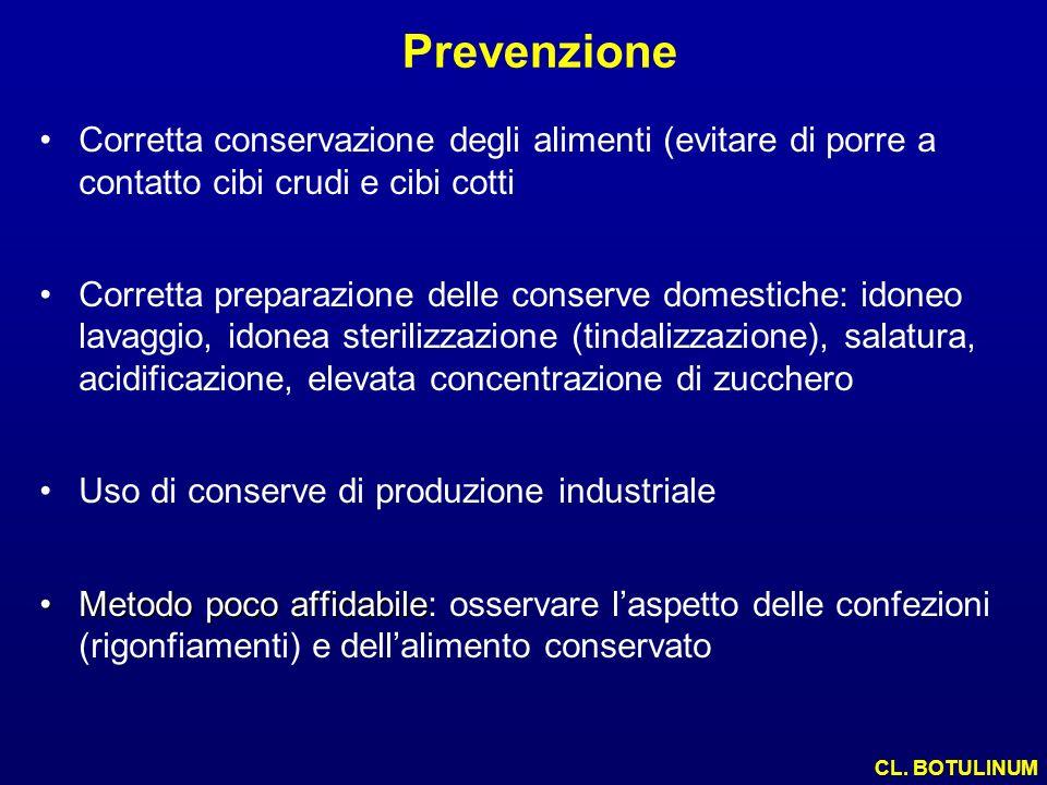 Prevenzione Corretta conservazione degli alimenti (evitare di porre a contatto cibi crudi e cibi cotti.