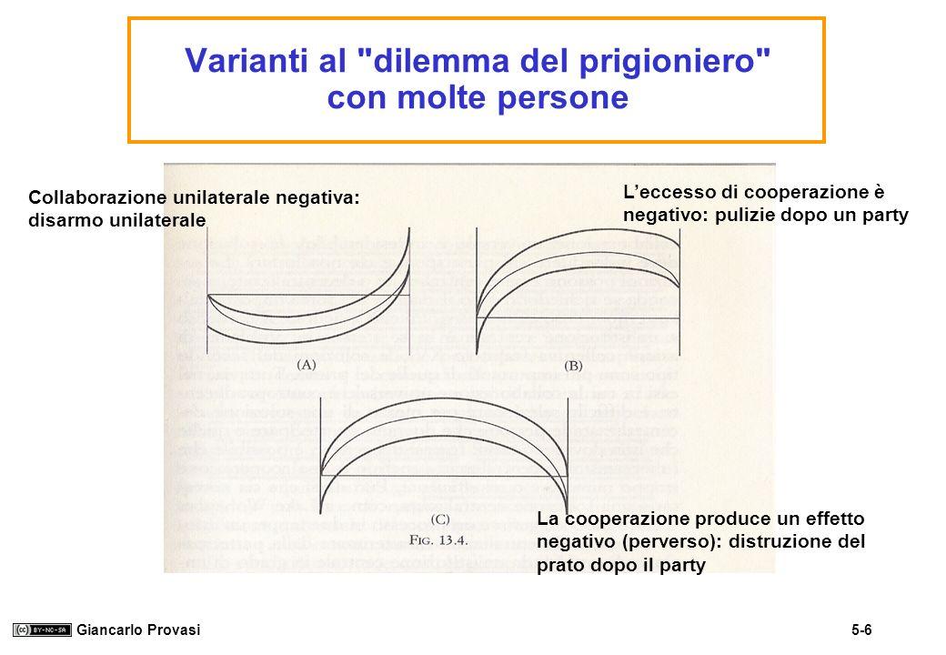 Varianti al dilemma del prigioniero con molte persone