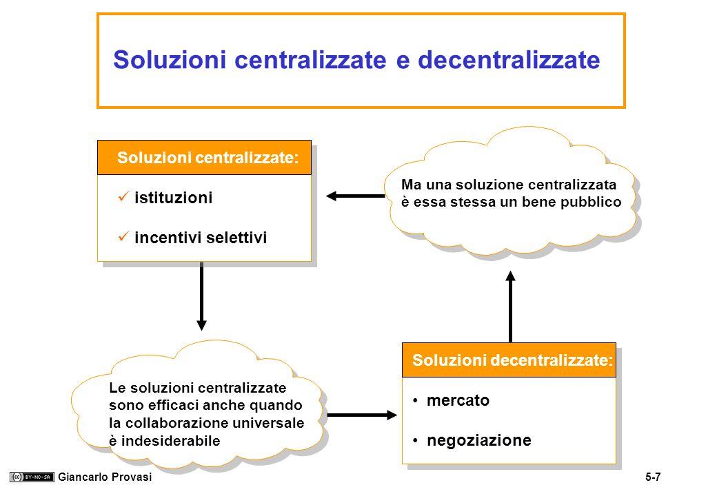 Soluzioni centralizzate e decentralizzate