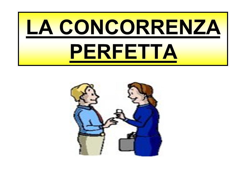 LA CONCORRENZA PERFETTA