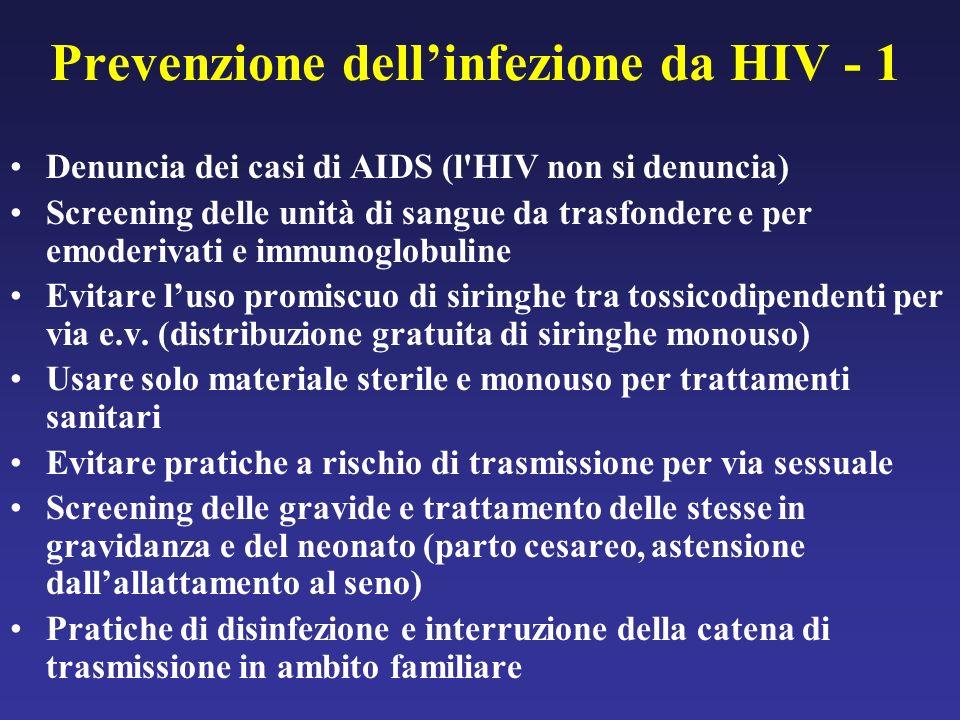 Prevenzione dell'infezione da HIV - 1