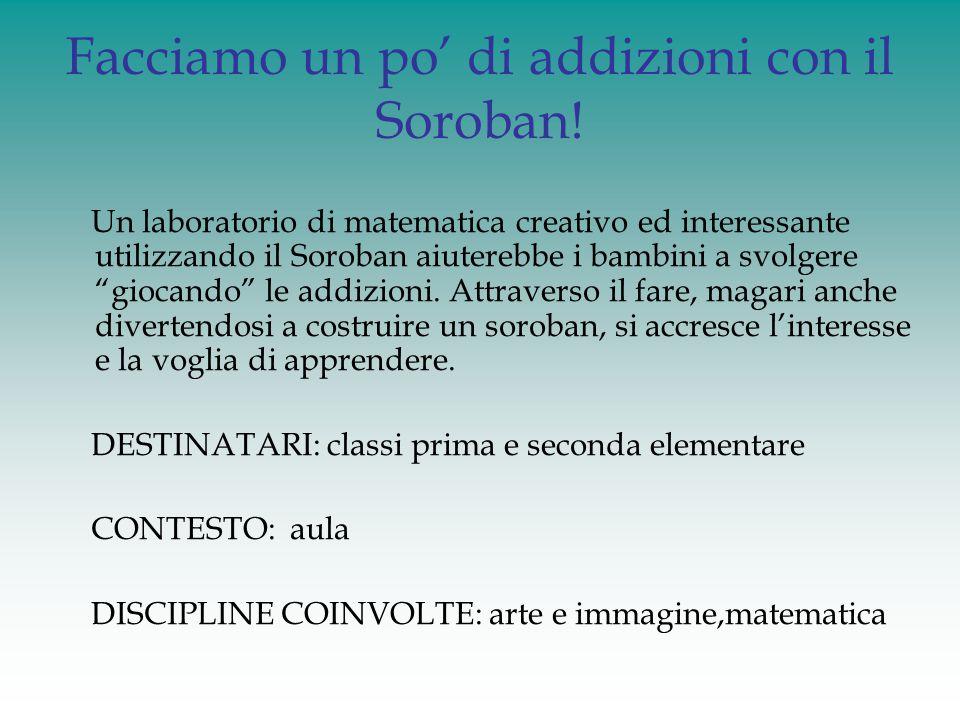Facciamo un po' di addizioni con il Soroban!