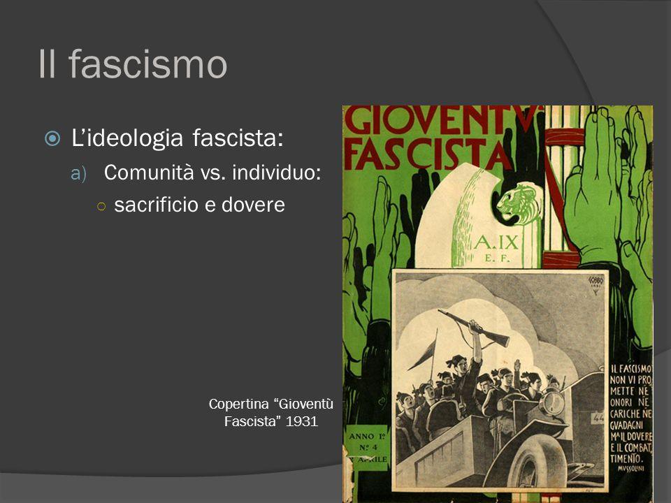 Copertina Gioventù Fascista 1931