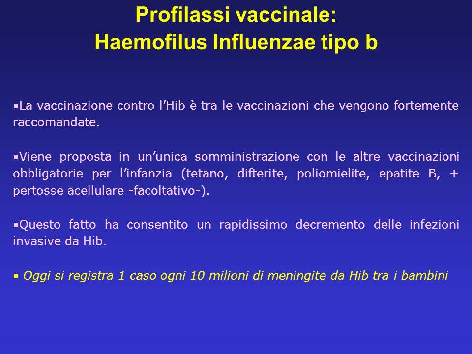 Profilassi vaccinale: Haemofilus Influenzae tipo b