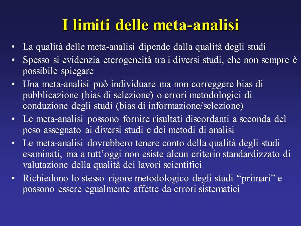 I limiti delle meta-analisi
