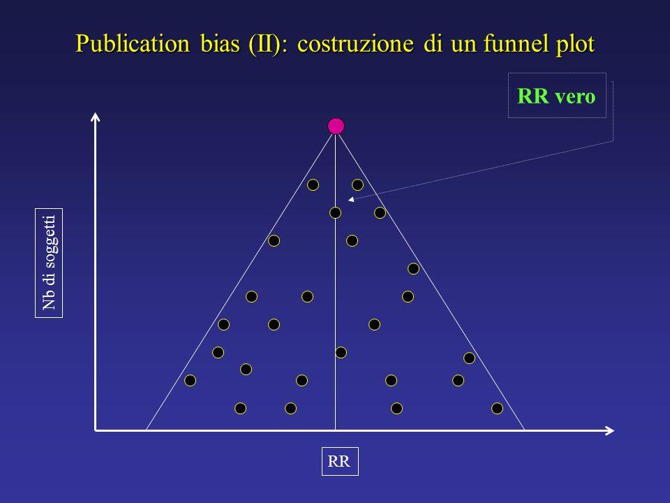 Publication bias (II): costruzione di un funnel plot