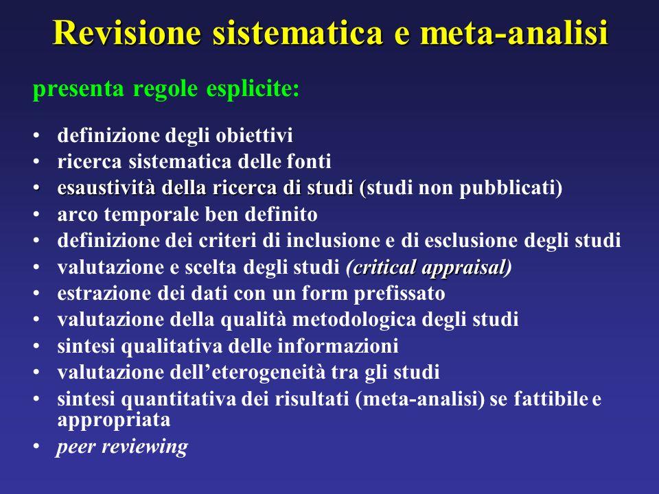 Revisione sistematica e meta-analisi