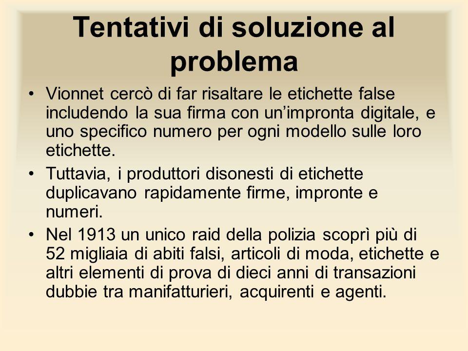 Tentativi di soluzione al problema