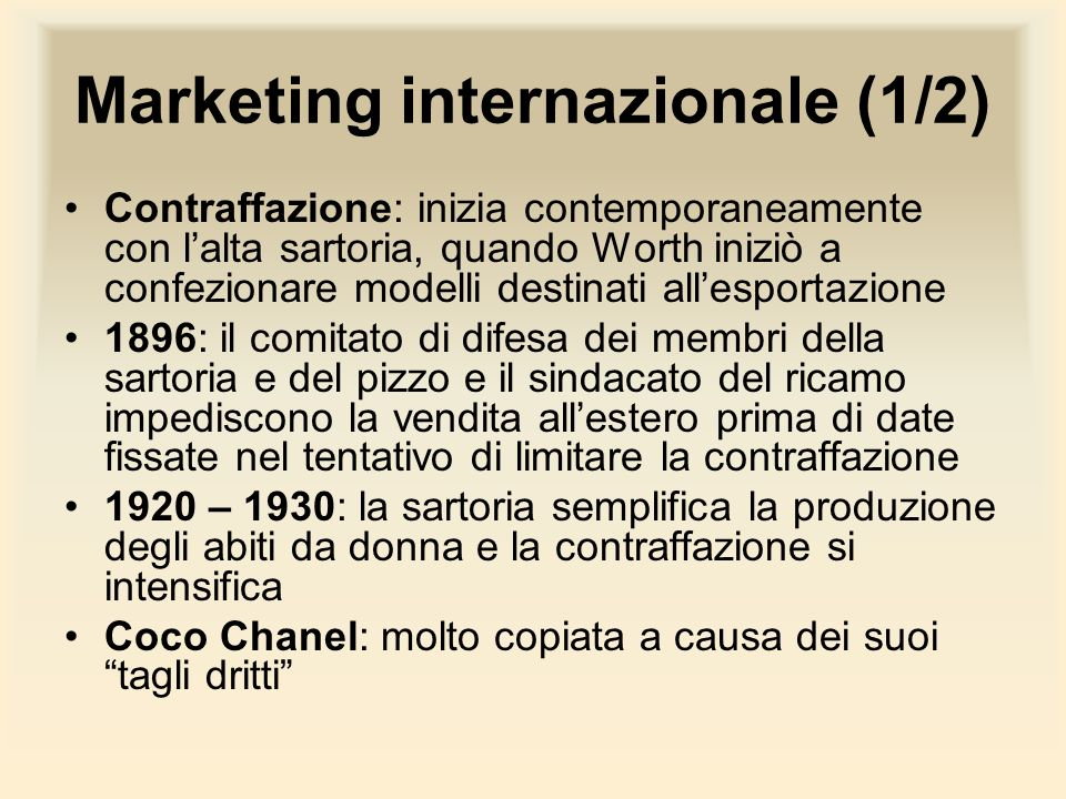 Marketing internazionale (1/2)