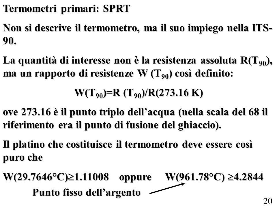 Termometri primari: SPRT