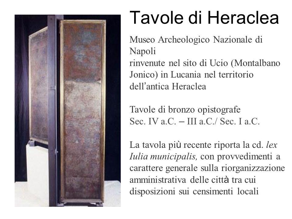 Tavole di Heraclea Museo Archeologico Nazionale di Napoli