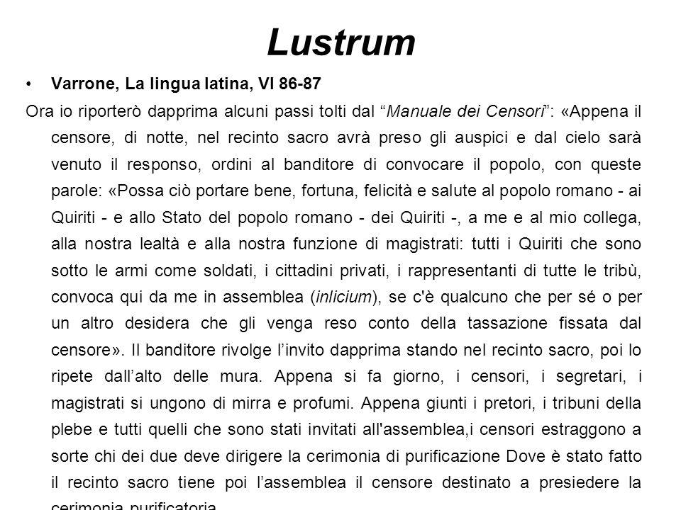 Lustrum Varrone, La lingua latina, VI 86-87