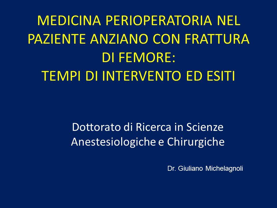 Dottorato di Ricerca in Scienze Anestesiologiche e Chirurgiche