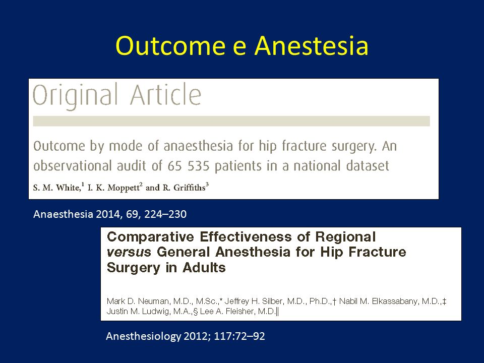 Outcome e Anestesia Anaesthesia 2014, 69, 224–230