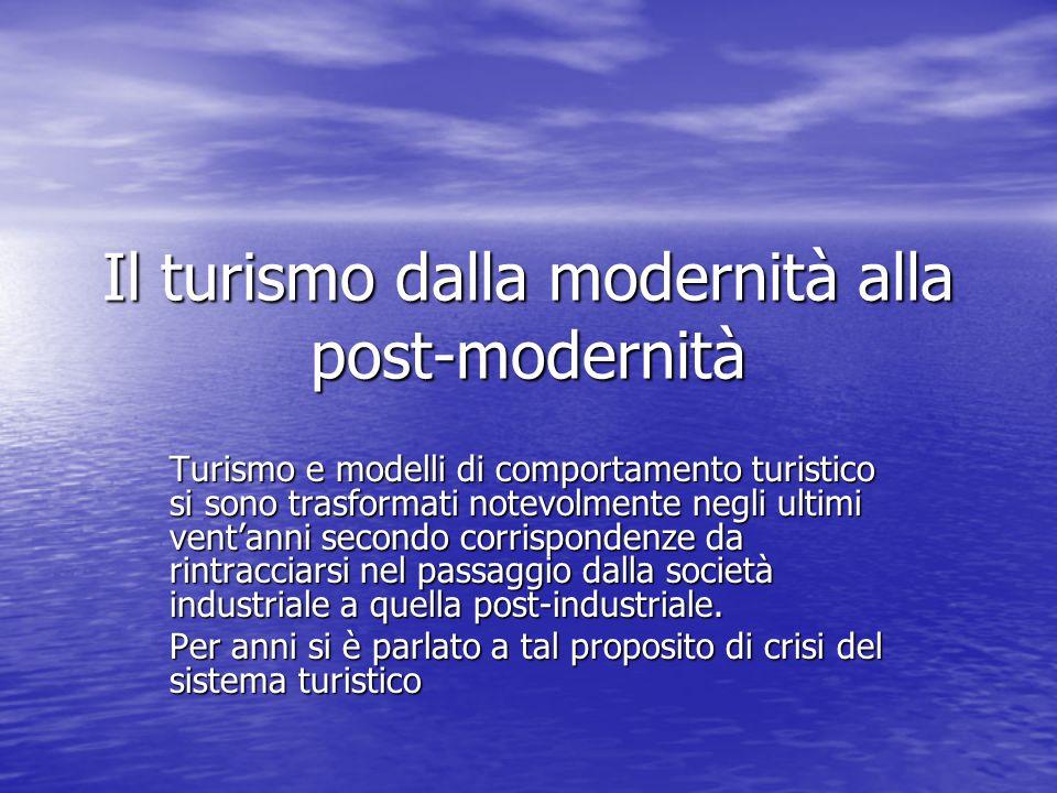 Il turismo dalla modernità alla post-modernità