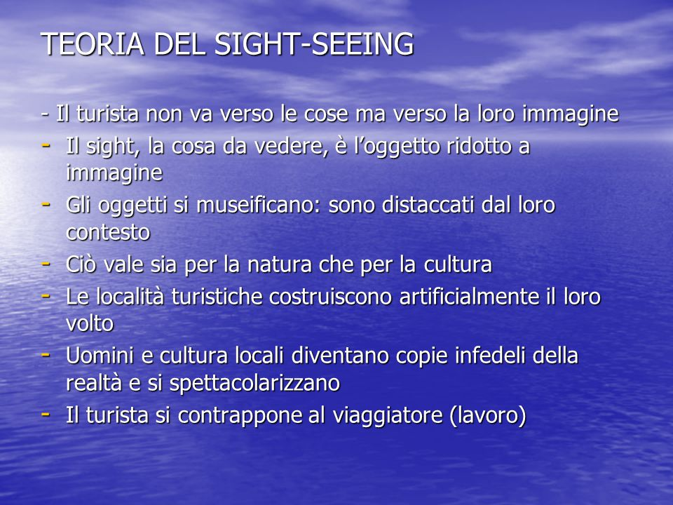 TEORIA DEL SIGHT-SEEING
