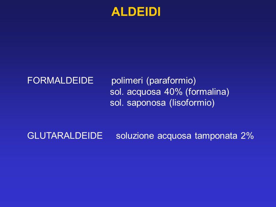 ALDEIDI FORMALDEIDE polimeri (paraformio) sol. acquosa 40% (formalina)