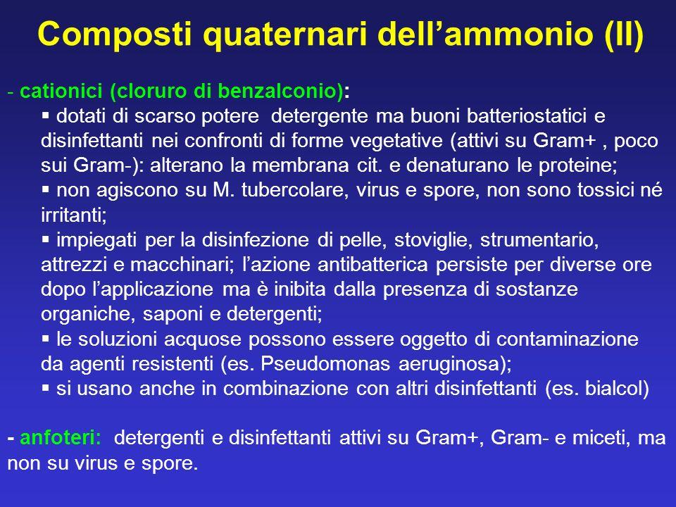 Composti quaternari dell'ammonio (II)