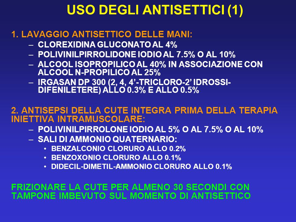 USO DEGLI ANTISETTICI (1)