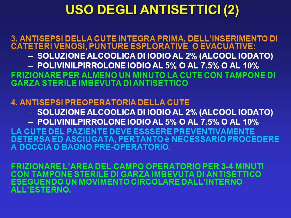 USO DEGLI ANTISETTICI (2)