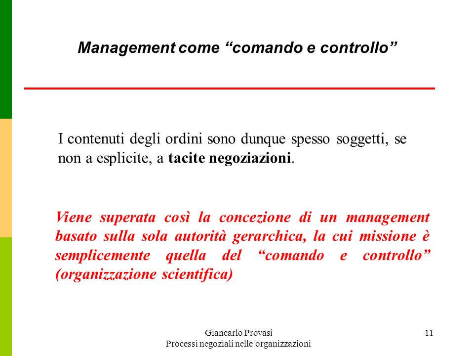 Management come comando e controllo
