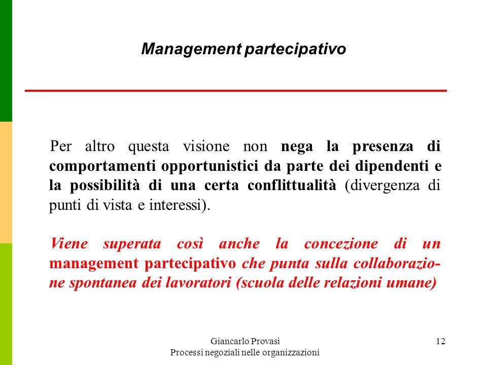 Management partecipativo