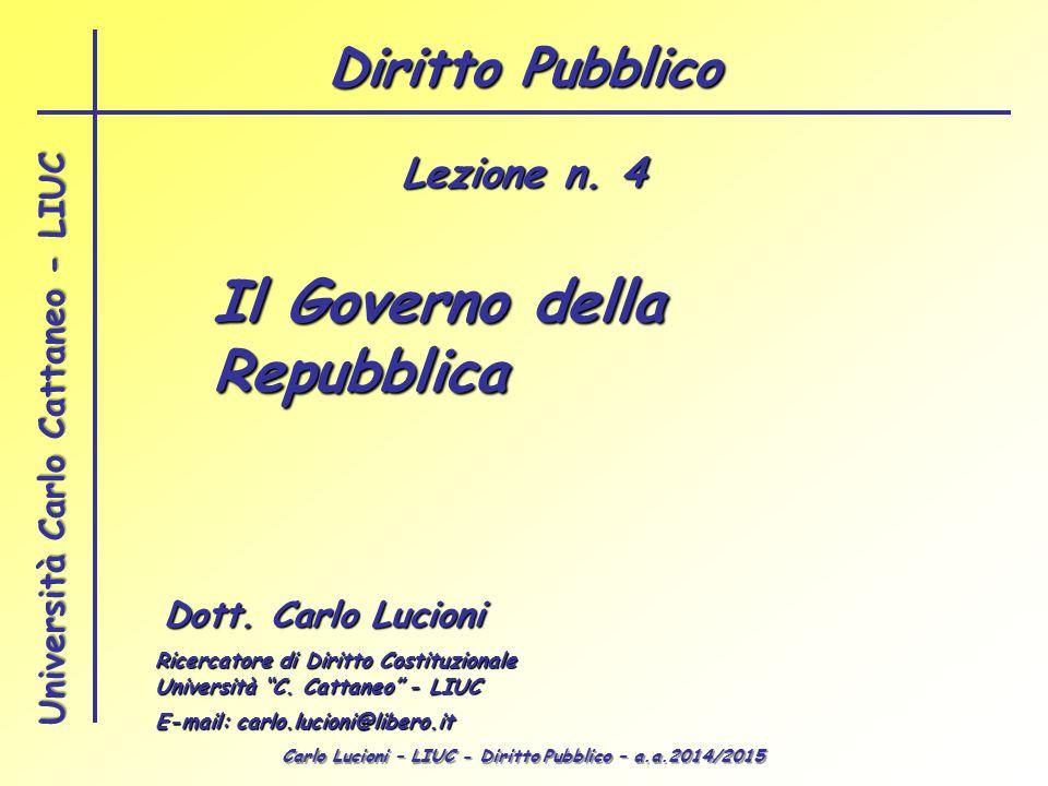 Il Governo della Repubblica