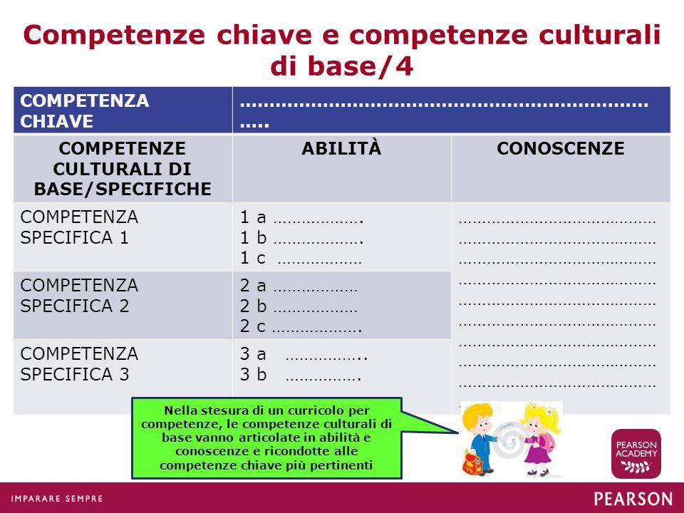 Competenze chiave e competenze culturali di base/4