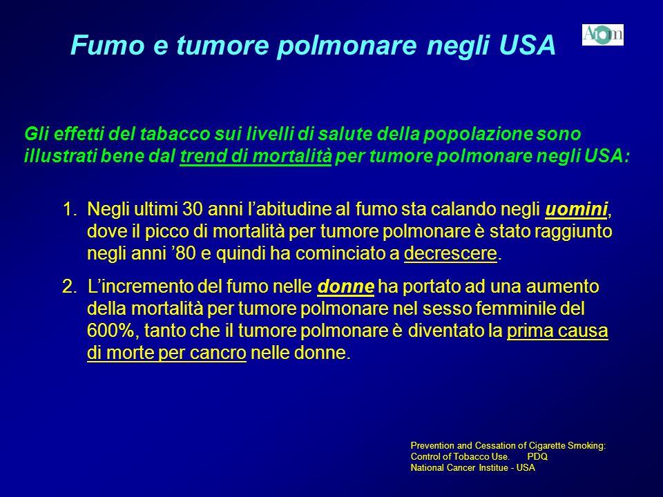 Fumo e tumore polmonare negli USA