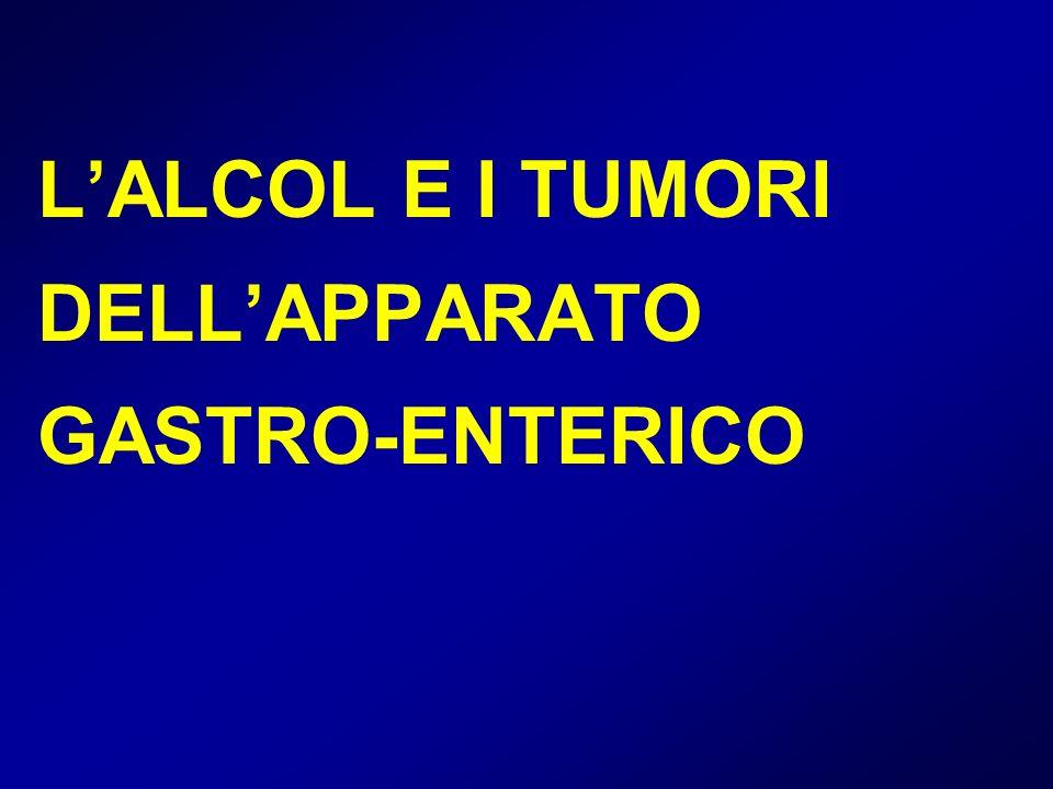 L'ALCOL E I TUMORI DELL'APPARATO GASTRO-ENTERICO