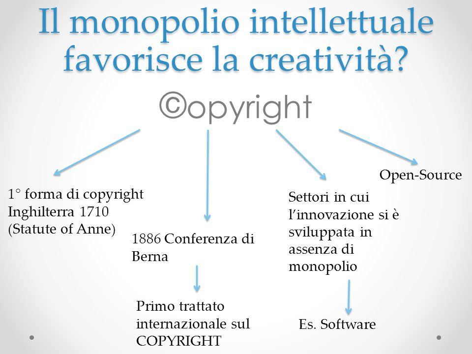 Il monopolio intellettuale favorisce la creatività