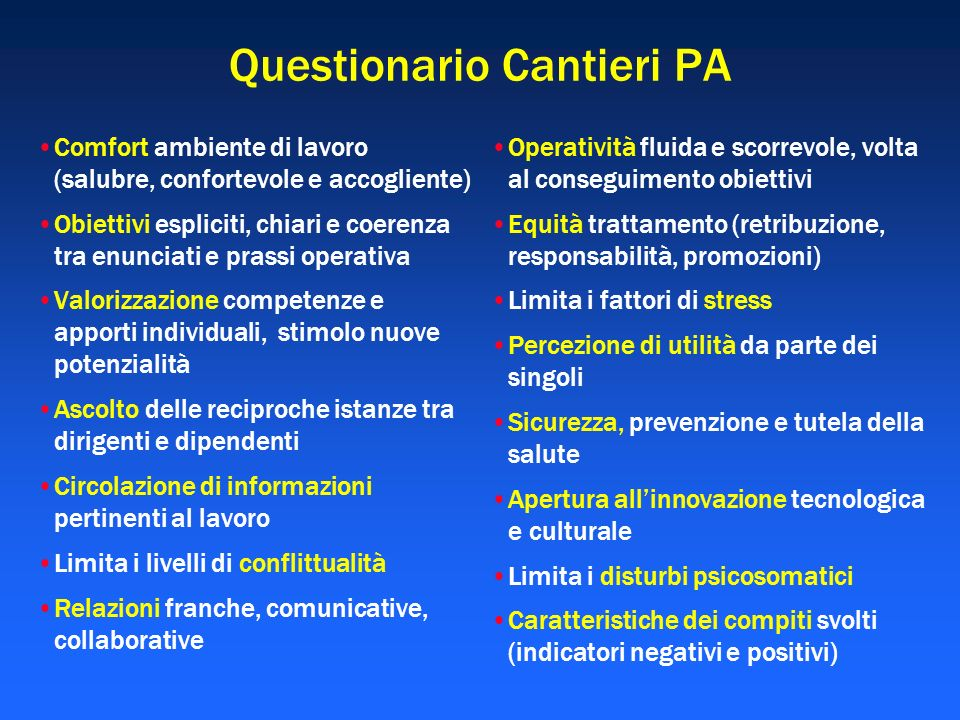 Questionario Cantieri PA