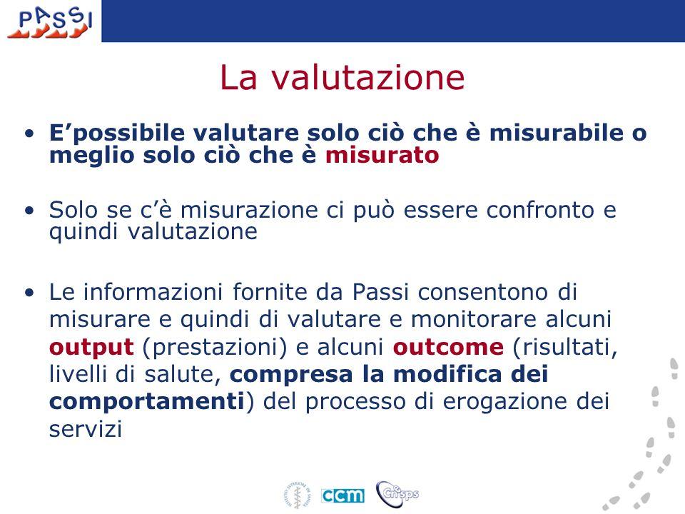 La valutazione E'possibile valutare solo ciò che è misurabile o meglio solo ciò che è misurato.