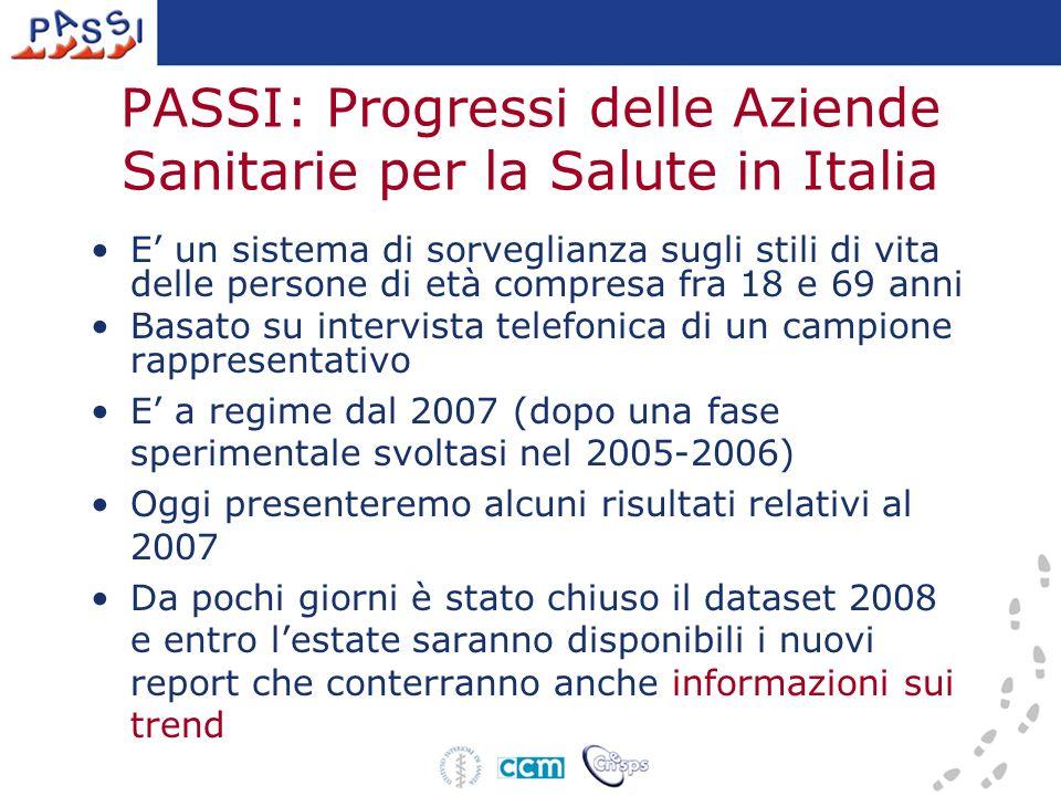 PASSI: Progressi delle Aziende Sanitarie per la Salute in Italia