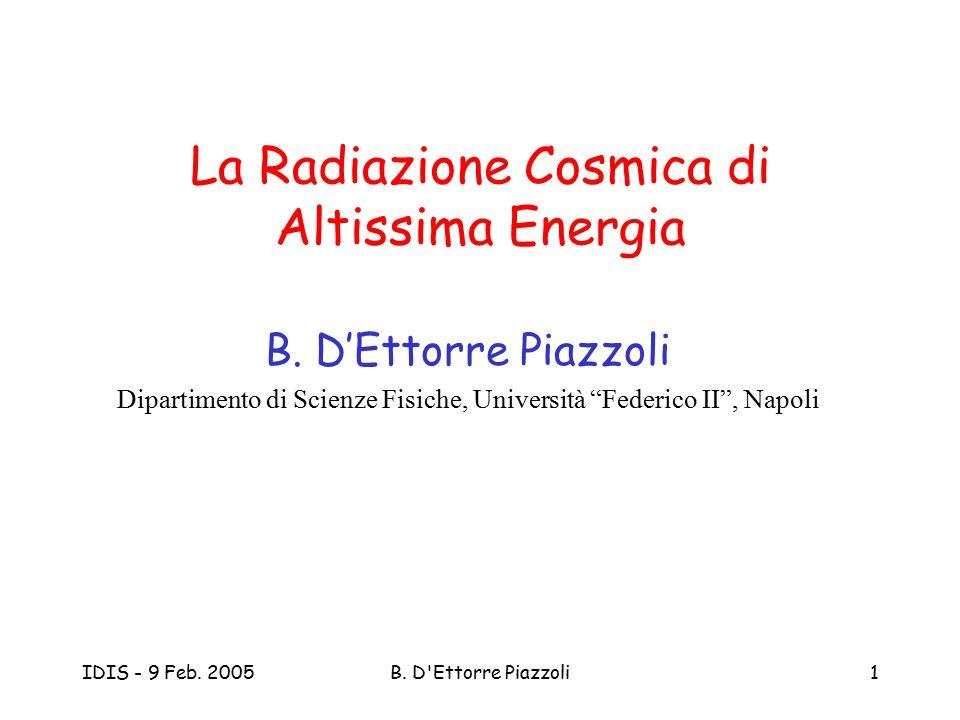 La Radiazione Cosmica di Altissima Energia