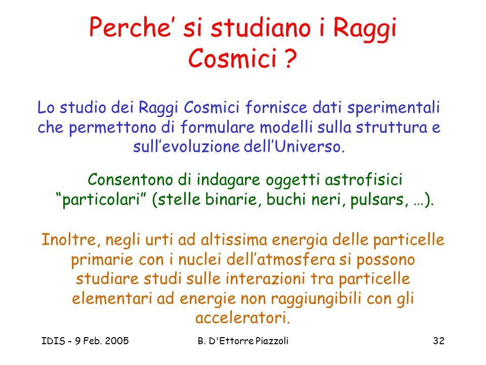 Perche' si studiano i Raggi Cosmici