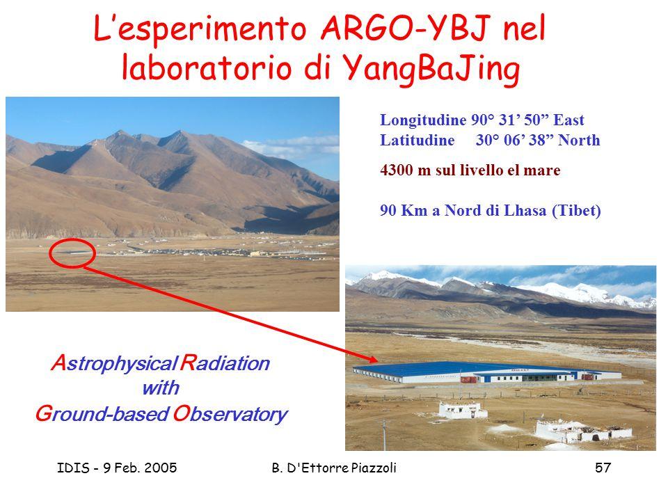 L'esperimento ARGO-YBJ nel laboratorio di YangBaJing