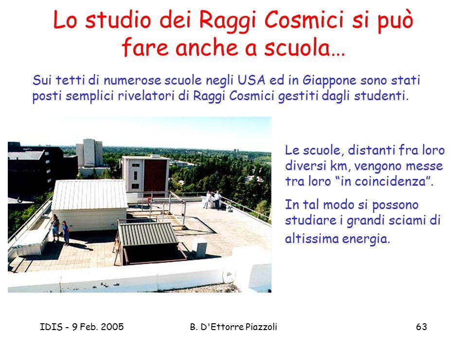 Lo studio dei Raggi Cosmici si può fare anche a scuola…